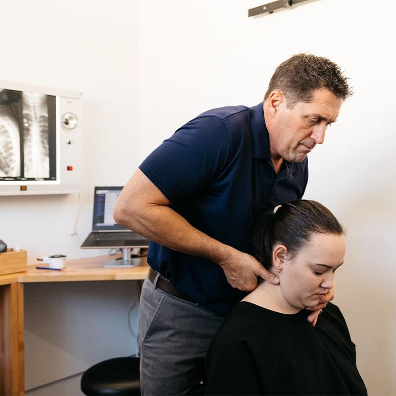 Dr Dave Gonstead Chiropractor Neck Adjustment